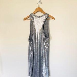 H&M Dresses - H&M Silver Metallic Racerback Tank Dress